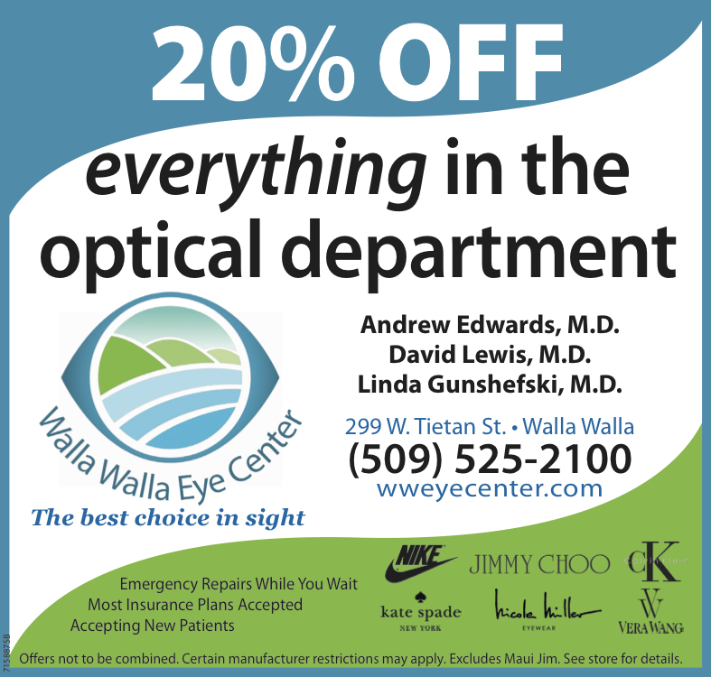 Walla Walla Eye Center coupon
